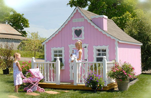15 creative luxury outdoor playhouses home design lover for Playhouse with porch plans