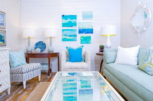 Nice Beach Themed Living Rooms