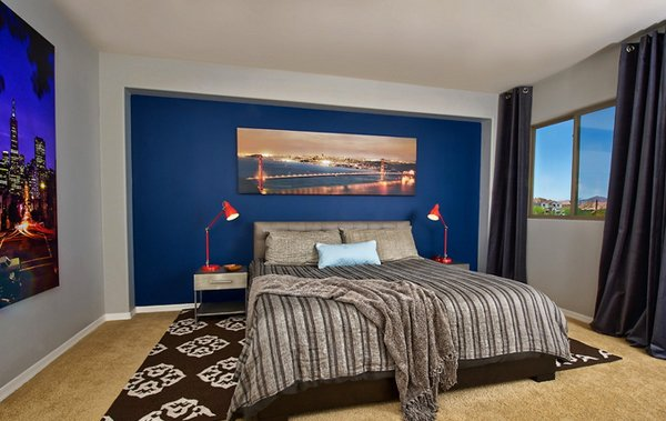 interesting blue brown master bedroom ideas | 15 Beautiful Brown and Blue Bedroom Ideas | Home Design Lover