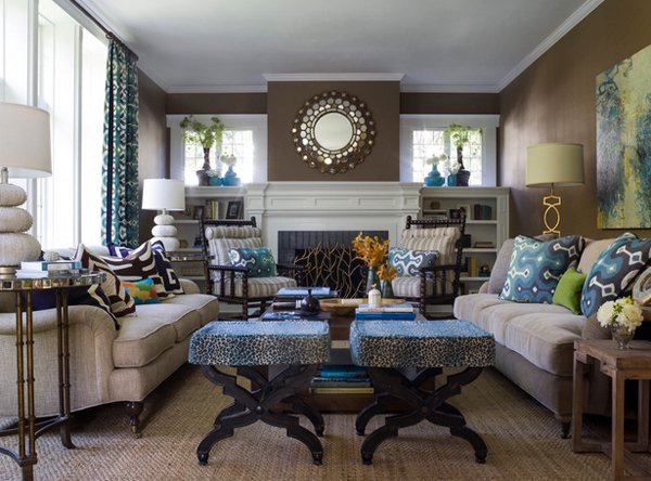 Brown And Blue Living Room Custom 15 Interesting Combination Of Brown And Blue Living Rooms  Home . Inspiration Design