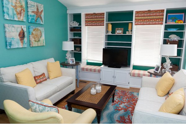 decors & 15 Scrumptious Turquoise Living Room Ideas | Home Design Lover