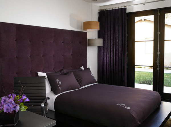 Modern Bedroom Purple 15 stunning black, white and purple bedrooms | home design lover