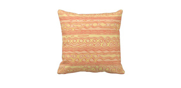 Unusual Strange Pattern Throw Pillow