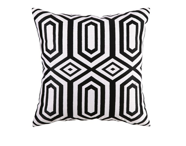 Black Embroidered Pillow