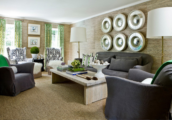 Lovely Grey And Green Living Rooms Home Design Lover
