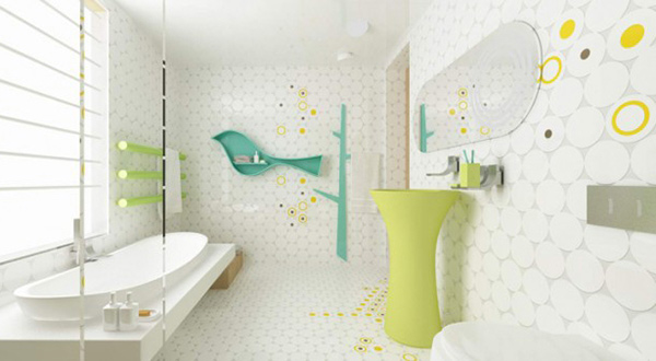 Merveilleux Bird Circle Bathroom