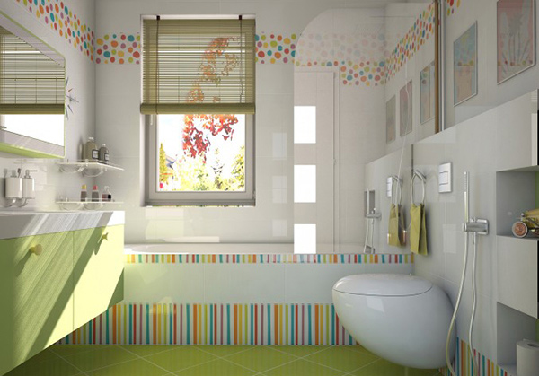 18 Colorful and Whimsical Kid's Bathroom | Home Design r on white marble for bathroom, panels for bathroom, magnets for bathroom, ceramic tile bathroom, fixtures for bathroom, plywood flooring for bathroom, kitchen tile bathroom, ceramic soap dish for bathroom, ornaments for bathroom, cornice for bathroom, silestone for bathroom, travertine for bathroom, fireplaces for bathroom, toilets for bathroom, blue tile bathroom, canvases for bathroom, toothbrush holders for bathroom, knobs for bathroom, rustic hardware for bathroom, floors for bathroom,