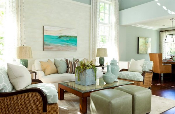 beachy living room. Butera Color Palette Beachy Living Room N