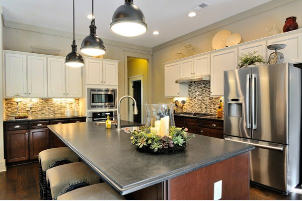 black antiqued granite