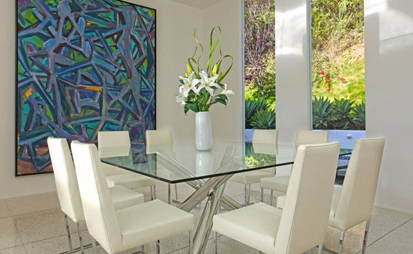 15 Shimmering Square Glass Dining Room Tables | Home Design ...