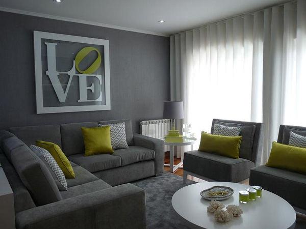 Grey And Green Living Room 15 lovely grey and green living rooms | home design lover