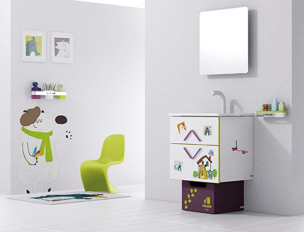 Child Washbasin Bath Cabinet