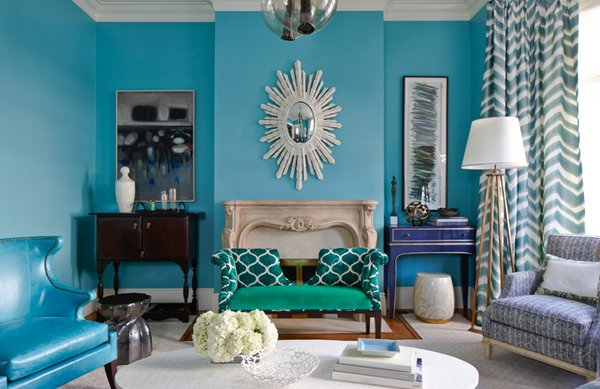 Modest Turquoise Living Room Ideas Decoration