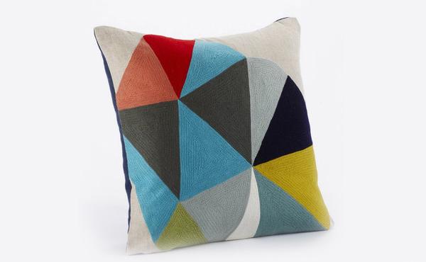 Color Wheel Linen/Wool Decorative Pillow