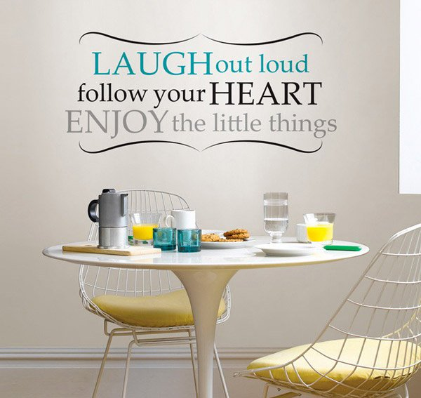 Laugh Out Loud Dining Wall
