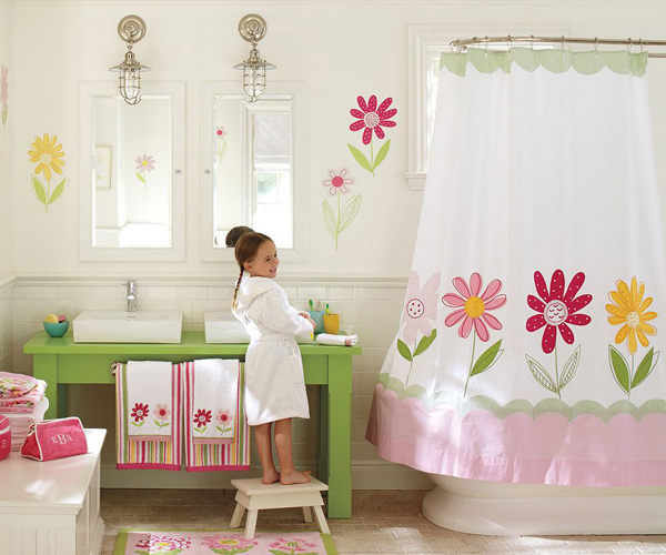 Kids Flowers Bath