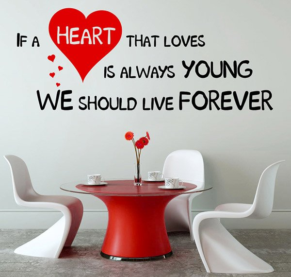 If A Heart That Loves Is Always Young decal