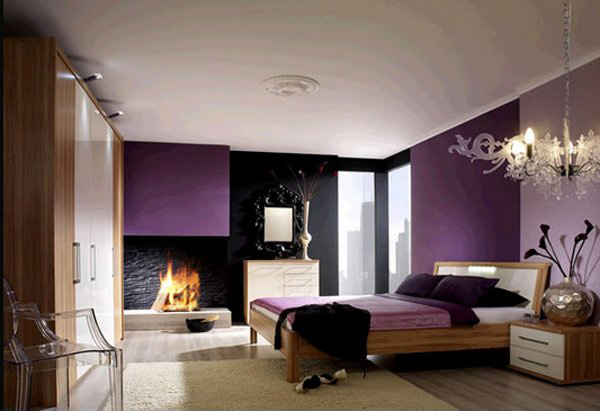 15 Stunning Black White And Purple Bedrooms Home Design