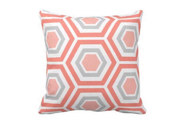 Modern Hexagon Pattern Pillow