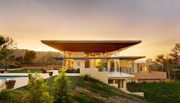 Modern Hillside Homes 15 modern contemporary homes on a hill | home design lover