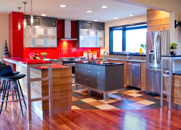 15 contemporary u shaped kitchen designs home design lover for Kitchen design kansas city