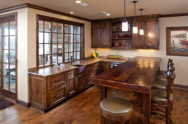 Distressed Wood Kitchen Designs