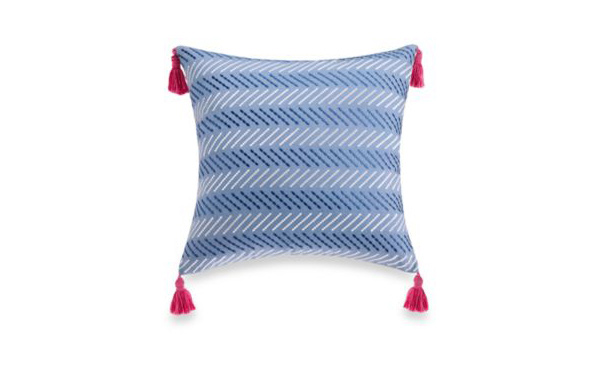 Woodblock Square Toss Pillow