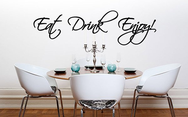 Eat Drink Enjoy wall decals