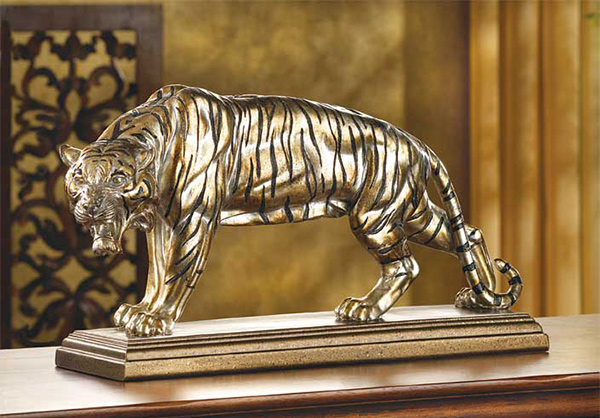 Golden Tiger Statue