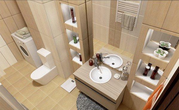 Modern Shelves Bathroom