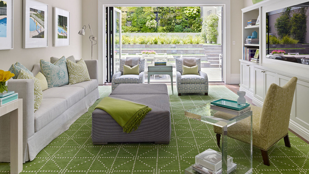 Grey And Lime Green Living Room 15 lovely grey and green living rooms | home design lover