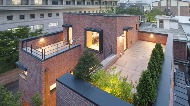 & A Minimalist Brick House in Hyojadong South Korea | Home Design Lover