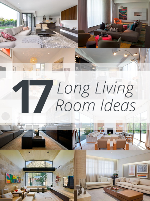 Incroyable Long Living Rooms