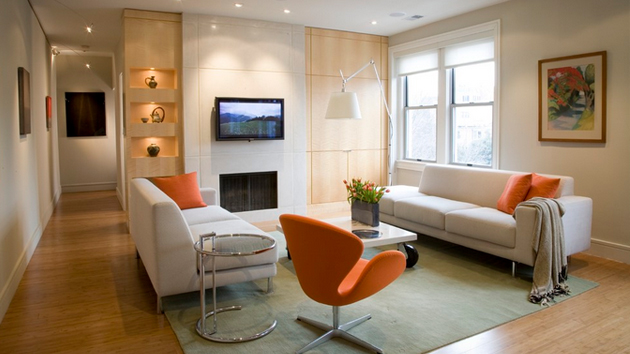 orange and white living room 15 orange and white living rooms home design lover 21203