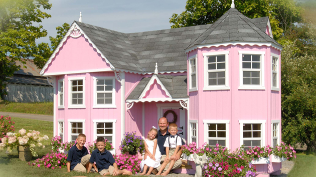 15 creative luxury outdoor playhouses home design lover for How to build a 2 story playhouse