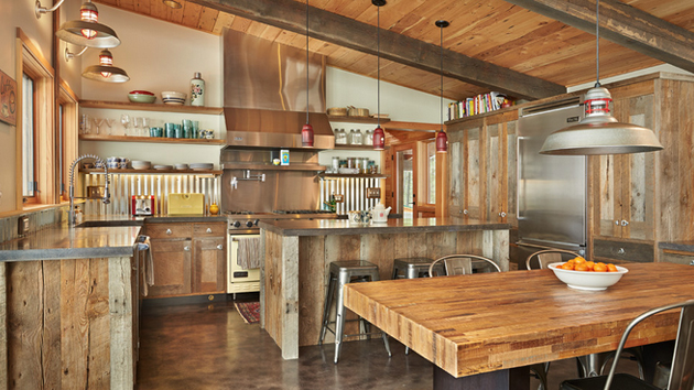 15 interesting rustic kitchen designs home design lover for Kitchen zinc design