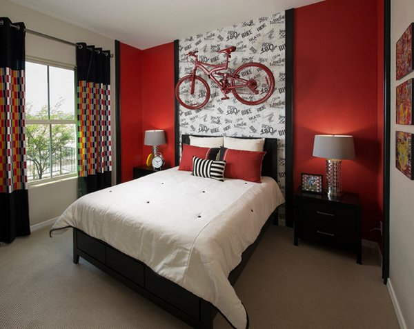15 Pleasant Black, White and Red Bedroom Ideas | Home Design Lover