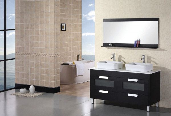 Design Element DEC019 Francesca Double Sink Vanity Set