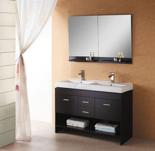 gloria 472 inch double sink bathroom vanity set - Black Vanity Set