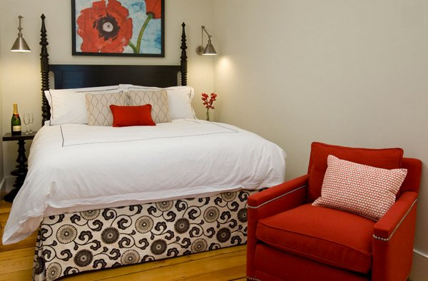 White and Red Bedroom Ideas