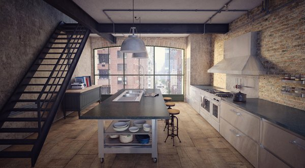 slate grey - Industrial Kitchen
