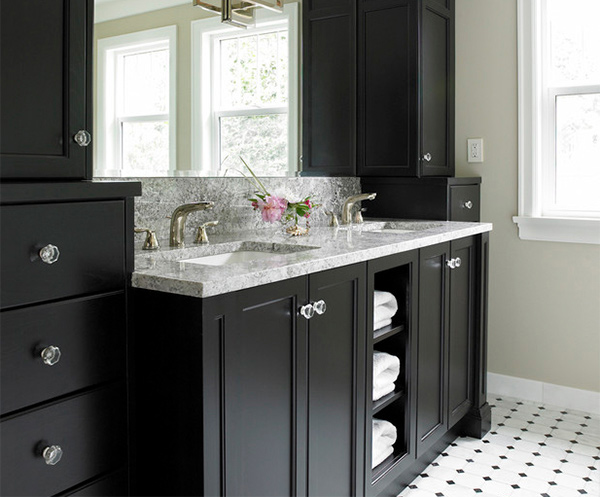 black and white bathroom cabinets 15 black bathroom vanity sets home design lover 22713