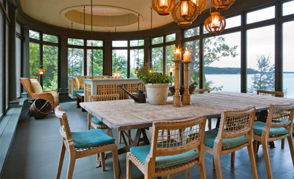 30 Ways To Create A Trendy Industrial Dining Room: 15 Beach Themed Dining Room Ideas