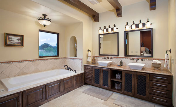 15 Beautiful Mediterranean Bathroom Designs | Home Design r on best modern bathroom designs, bathtub designs, popular bathroom designs,