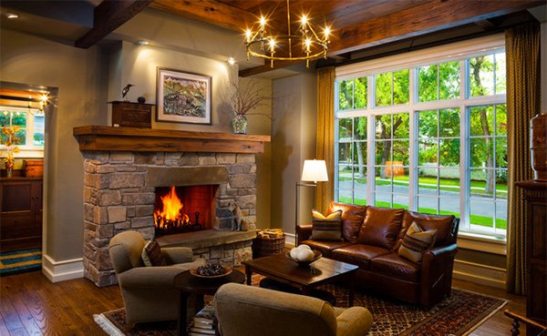 How To Design A Living Room With A Fireplace