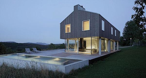 The Distinct Design of House D in Switzerland | Home Design Lover