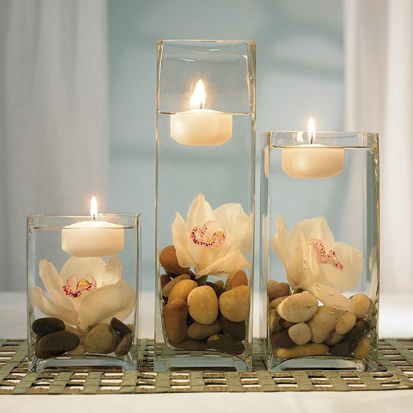 Delicieux Simple Candle Centerpiece