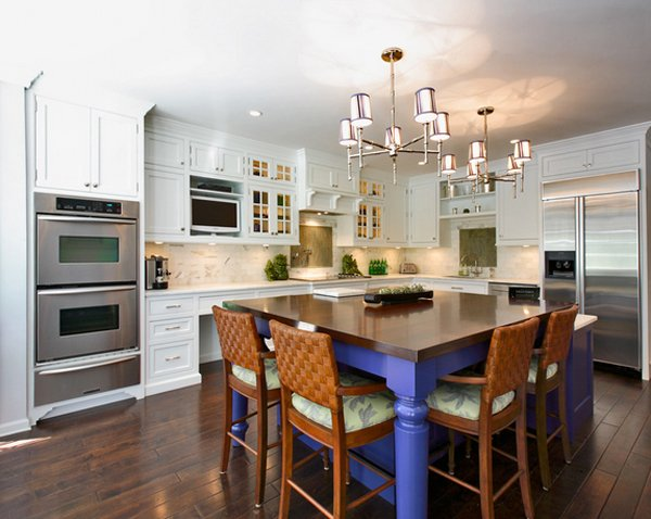 15 beautiful kitchen island with table attached home for Zen style kitchen designs