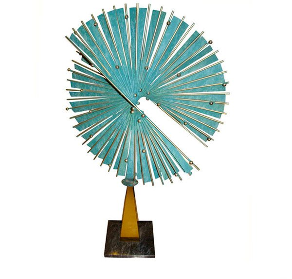 Abstract Metal Table Sculpture