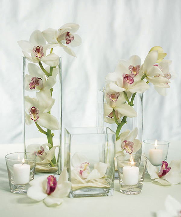 Gentil White Table Centerpiece
